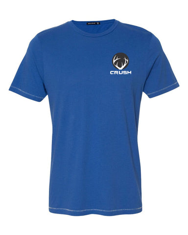 Big Buck Down - Back Print - Royal Blue tee