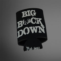Big Buck Down Black/White Koozies