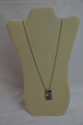 Handmade Put Some Glitter in Your Game Dog Tag Necklace with multiple charms
