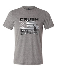 Crush Freedom to Hunt American Flag heather gray tee