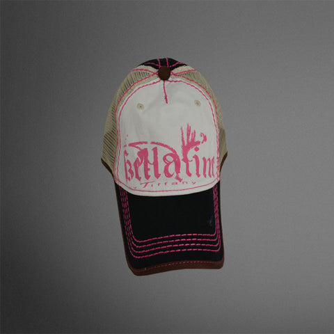 Bellatine white black tan pink cap