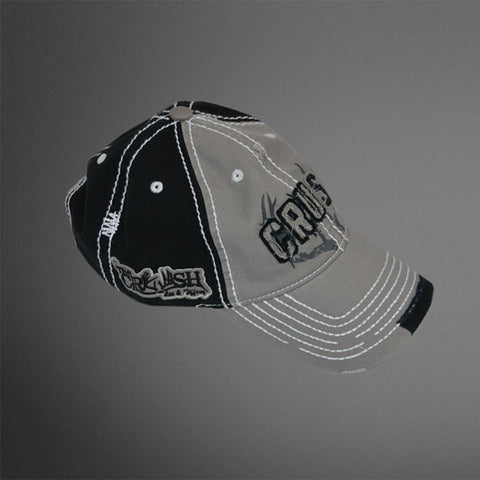 CRUSH patch Gray/black/white cap