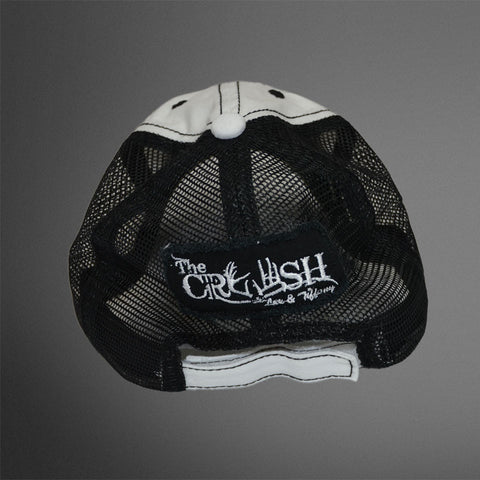 White/Black CRUSH trucker