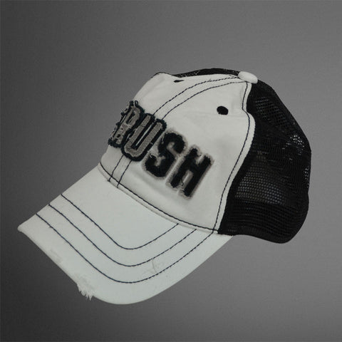 White Black CRUSH trucker