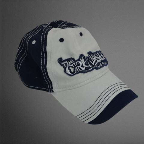 Crush white with navy wave cap