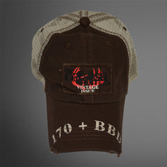 170+ BBD Chocolate/tan trucker cap