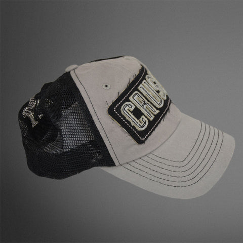 gray/black trucker CRUSH cap