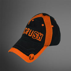 CRUSH cap Black Blaze Orange stitching