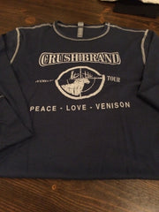 Crush Brand Peace Love Venison Men's/Unisex Long Sleeve Navy Thermal