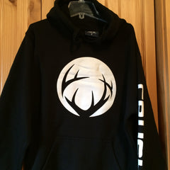 Black Crush Unisex Hoodie with white circle logo