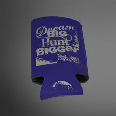 Dream Big Hunt Bigger Purple/Silver Koozies