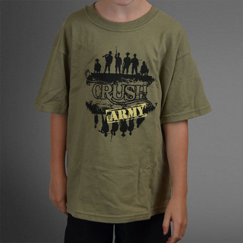 Crush Army green boys tee