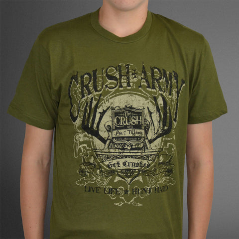 Crush Army Green tee
