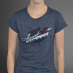 Hearstopper heather blue tee