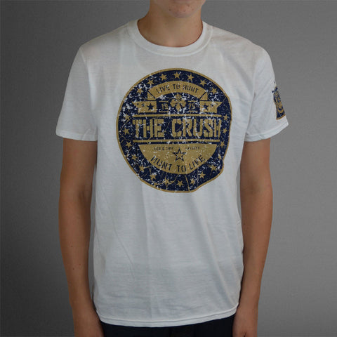 Live to hunt white/navy circle tee