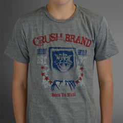 Crush Brand college gray tee