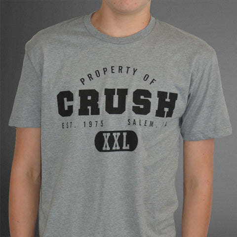 Property of Crush new gray tee