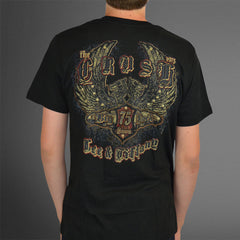 Big Buck Down black stud wing tee