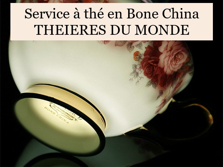 Service à thé porcelaine Bone China
