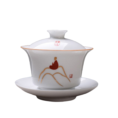 Théière en Porcelaine <br>Gaiwan Bone China 150ml