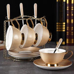ensemble 4 tasses porcelaine