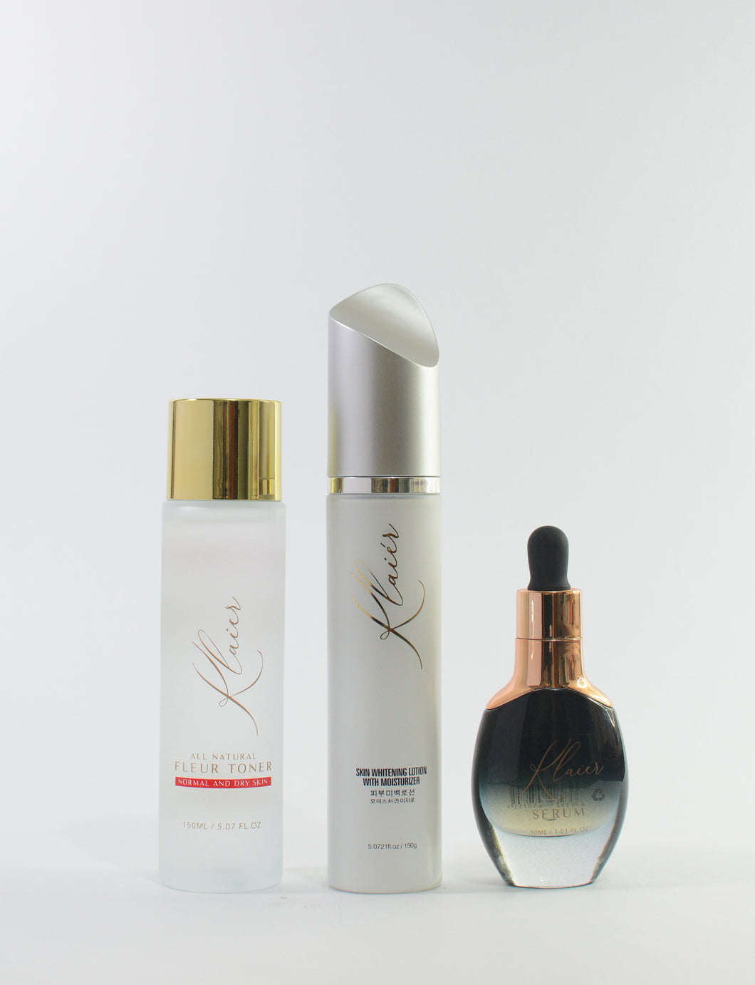 Klaiér - Gold Serum, Fleur Toner and Instant Whitening Lotion - Klaiér Skin Care Solutions