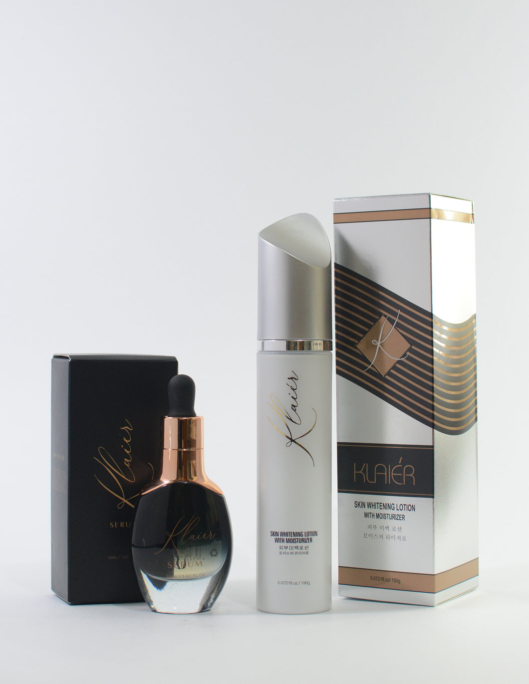 Klaiér - Gold Serum and Instant Whitening Lotion Package - Klaiér Skin Care Solutions