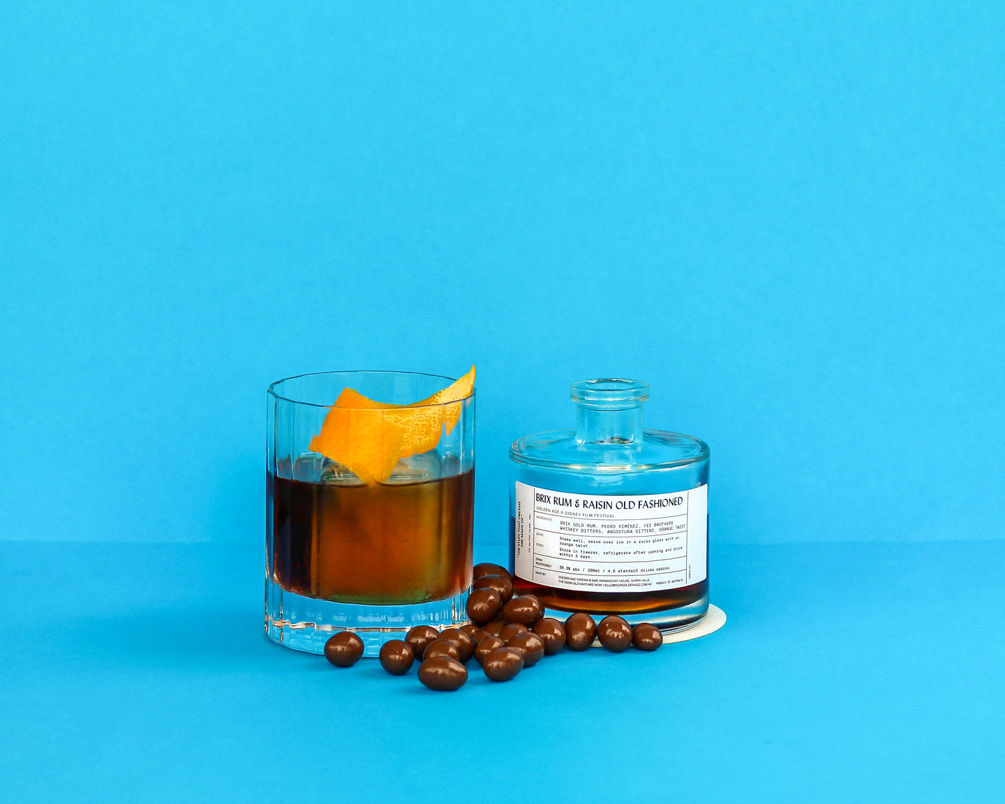 Brix Rum and Raisin Old Fashioned