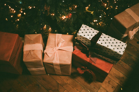 A presents under the Christmas tree