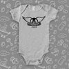 The ''Aerosmith'' graphic baby onesies in grey.