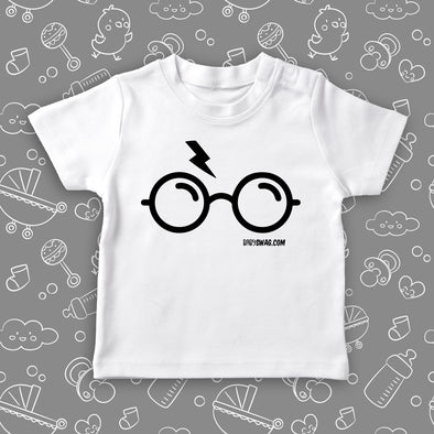 "The ""Harry Potter"" cool toddler shirt in white."