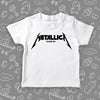 """Metalica"" toddler shirt in white."