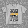 "Grey toddler boy shirt with saying ""My Mind On My Mommy, And My Mommy On My Mind""."