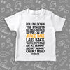 "White toddler boy shirt with saying ""My Mind On My Mommy, And My Mommy On My Mind""."