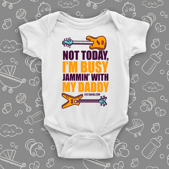 For father and son special day, Baby Swag has a special rock n' roll onesie. Both dad and baby boy will love it. It has the cool guitars printed on it, and it is made of pure cotton. Your boy will feel warm and comfy so you can jam all day long.