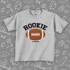"The ""Rookie"" toddler biy shirt in grey."