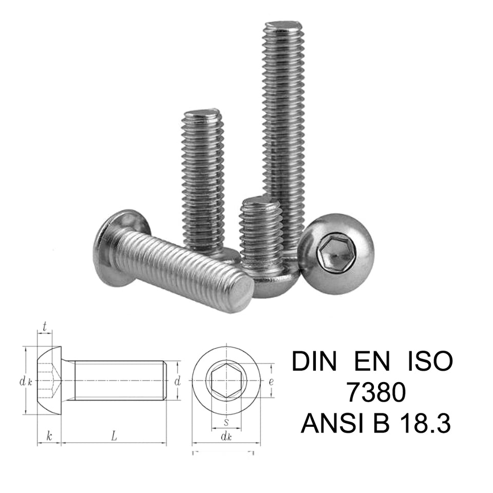 Titanium DIN 7380 Screw