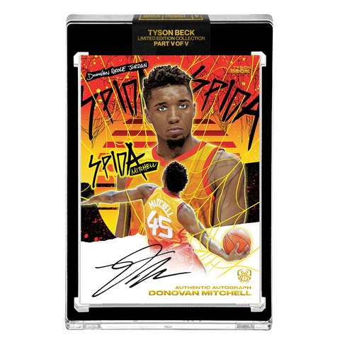 *PREORDER* PART V OF V - OFFICIAL DONOVAN MITCHELL X TYSON BECK BASE SUNSET – BLACK AUTOGRAPHED CARD - LIMITED TO 29