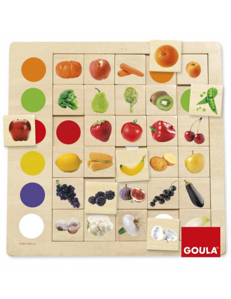 Jeu d'association Couleurs et Fruits - Goula