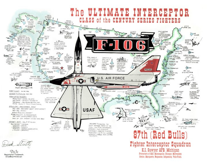 Ultimate Interceptor - F-106 Lithograph