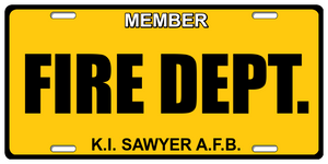 410th Fire Department License Plate