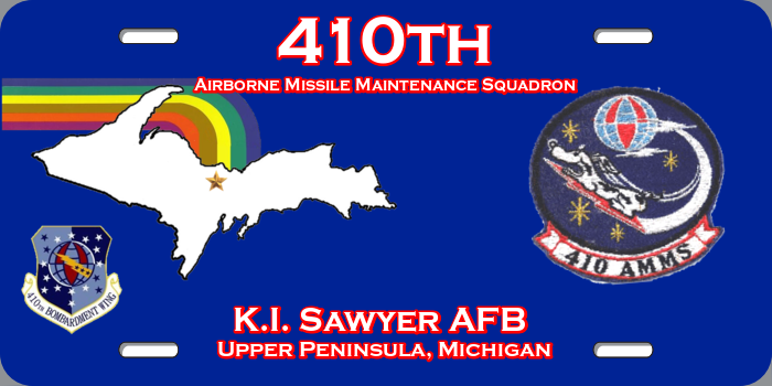 410th AMMS License Plate