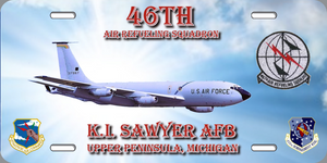 46th ARS KC-135 License Plate