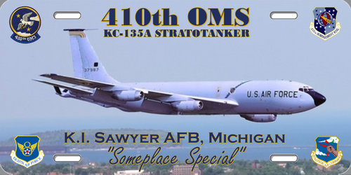410th OMS with KC-135 License Plate