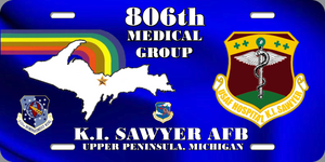 806th Medical Group License Plate