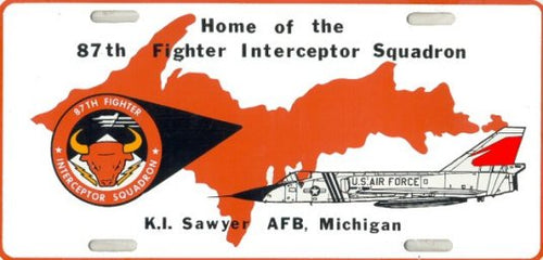 87th Fighter Interceptor Squadron License Plate
