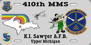 410th MMS License Plate
