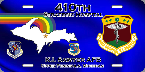 410th Strategic Hospital License Plate