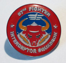 87th Fighter Interceptor Squadron Hat Pin