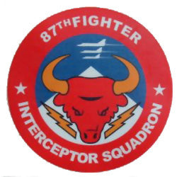 87th Fighter Interceptor Squadron Red Bulls Official Decal